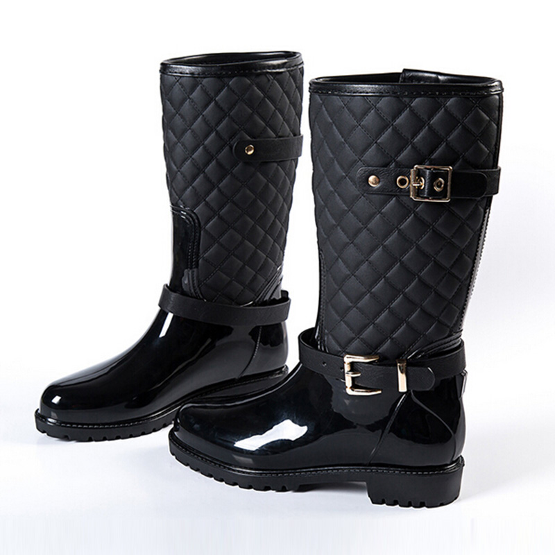 Buy Fashion Solid Color Mid-calf PVC Rain Boots at OASAP ...