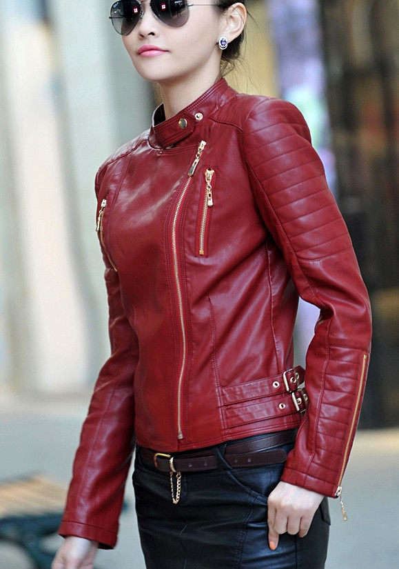 Compare Prices on Leather Motorcycle Jacket Women- Online Shopping