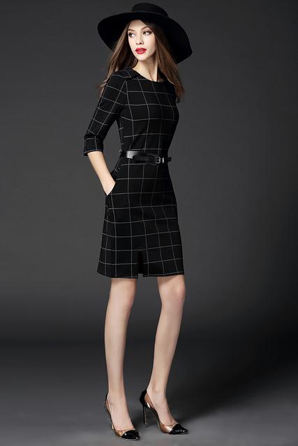 2015 mujeres de moda de elegante para mujer de la oficina de trabajo OL estilo correa