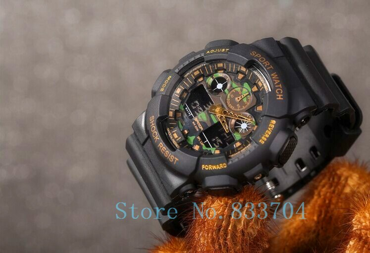 Newest Camouflage watch classic sports wristwatch LED Digital Watch Men military watches relogio reloj de pulsera Drop shipping(China (Mainland))