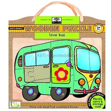Green Start Wooden Puzzles - Love Bus(China (Mainland))