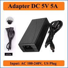 Buy 5V 5A US Plug AC DC Adapter AC 100V-240V input Converter Adapter to DC 5V 5000mA 25W Power Supply Charger 5.5mm x 2.1-2.5mm for $4.00 in AliExpress store