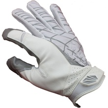 white Best high quality STARS-R22 Genuine Leather gloves white black S M L XL XXL American Football Gloves slippery rugby gloves(China (Mainland))