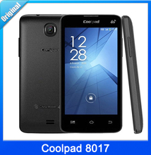 Original 4.0 inch Coolpad 8017 Mobile Phone RAM 512MB + ROM 4GB Android 4.4 MTK6582M Quad Core 1.2GHz Phones GSM Network GPS