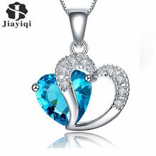 Buy 2017 New Zircon Crystal Silver color Jewelry Fashion Necklace Women Best Friend Love Heart Long Chain Necklace Fine Jewelry for $1.39 in AliExpress store