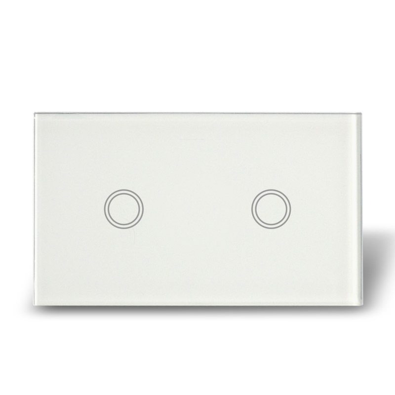 Wall Light Switches Us : Free ship electric touch screen smart wall switch , double gang touch glass light switch, US ...