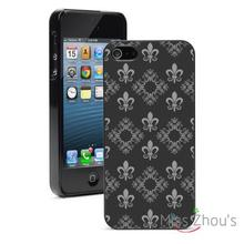 Damask Fleur De Lis Protector back skins mobile cellphone cases for iphone 4/4s 5/5s 5c SE 6/6s plus ipod touch 4/5/6