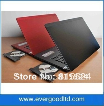 Newest 14.1 inch D2500 Laptop Windows 7 Notebook Computer Built-in DVD RW Memory 2GB HDD 320GB WIFI Camera