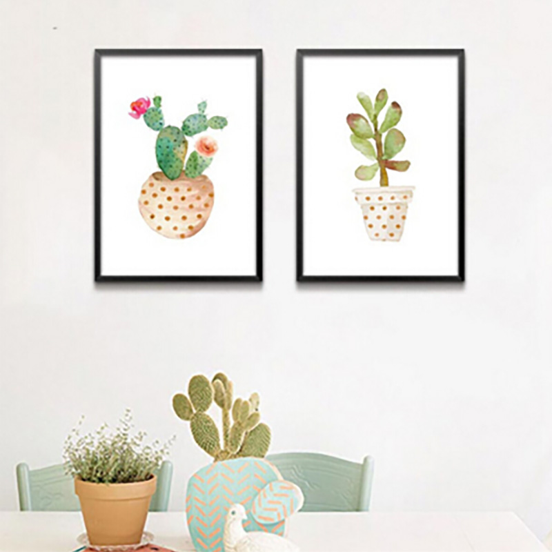 Nordic Style Still Life Cactus Plant Painting Canvas Art Print Painting Poster Home Decoration Wall Picture Living Room Decor