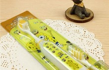 sponge bob toothbrush cartoon cute toothbrush electric toothbrush 1pack= a wand + 2 toothbrush heads SSC1157