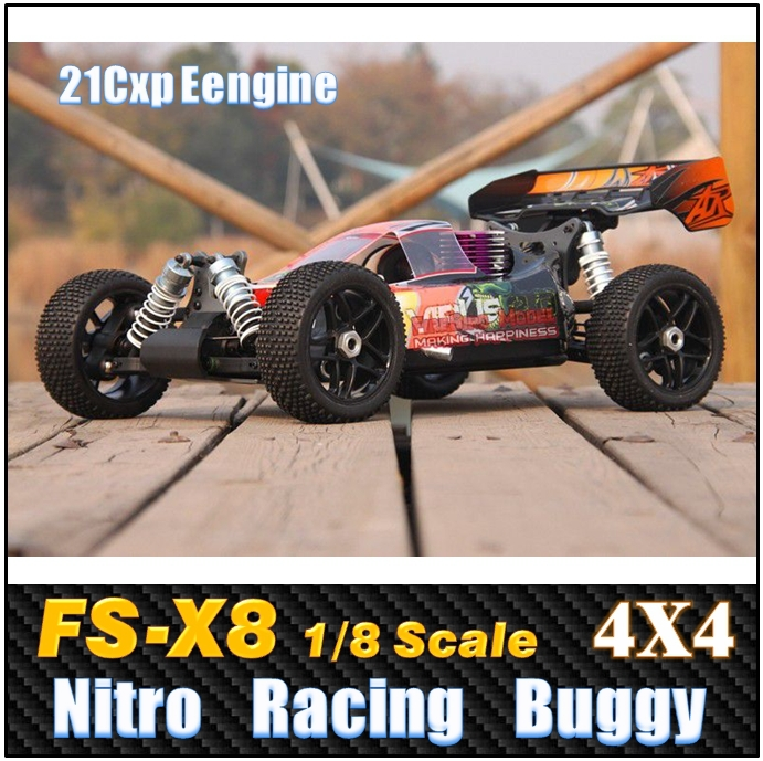 FS- X8 1/8 Scale 3.5cc Nitro Gas Power 4WD High speed Off-Road Racing Buggy , Rc car Remote Control Car(China (Mainland))