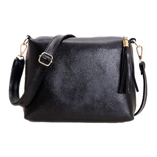 Модной женщины сумку мягкой кожи бахрома кроссбоди женщины вестник мешки конфеты ...