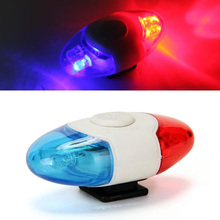 Buy Super Mini Waterproof Police Light 4 LED Red Blue 4 Flash Mode Bicycle Cycling Rear Light Safety Warning Tail Bike Light Lamp for $2.94 in AliExpress store