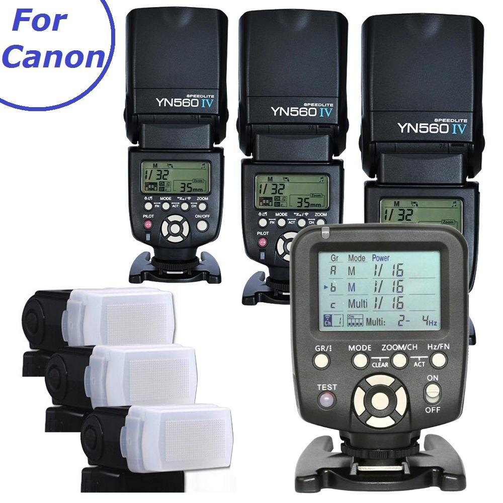 3pcs Yongnuo YN560-IV 560IV Flash light Speedlite Speedlight + YN560-TX Wireless Flash Controller for Canon DSLR Cameras 6D 60D<br><br>Aliexpress