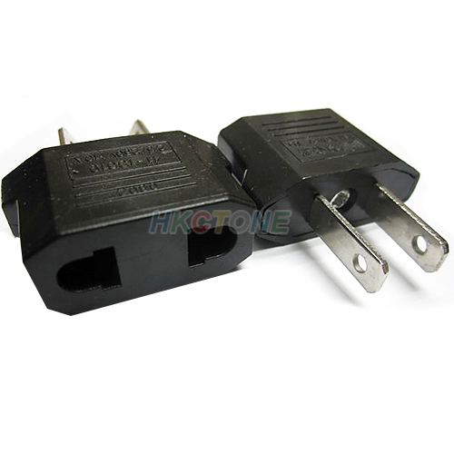 Wholesale EU to US AC Power Plug Travel Converter Adapter Free Shipping 07UE(China (Mainland))