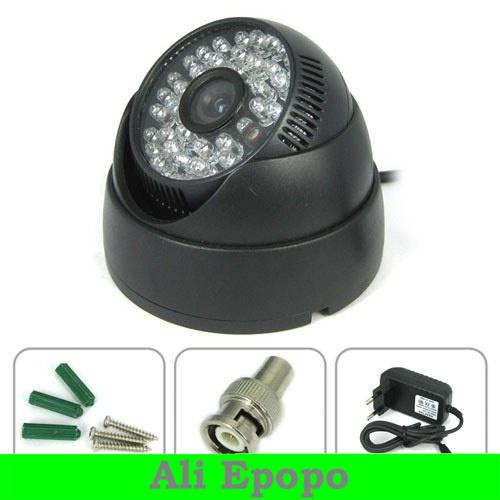 10 PCS/LOT 1/4 Sharp CCD 420 TVL Dome CCTV Camera, Adapted to Indoor, IR Night Vision Camera for Security Surveillance(China (Mainland))