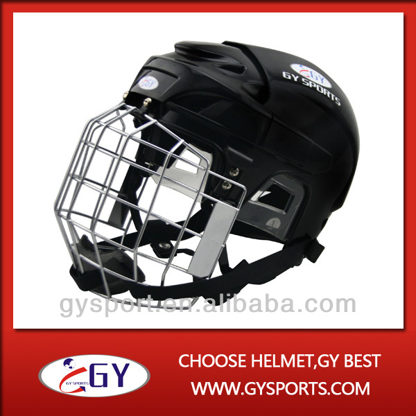 high quality Custom Specialize Protective black Ice Hockey Helmets for head protection free shipping(China (Mainland))