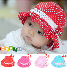 baby summer hat Korean pop princess basin cap baby wild infants dot bucket hats children hat 4 colors can be picked