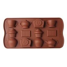 1PCS Cake/ cookies/ cup/clock Shape Silicone Fandont Chocolate Mold Ice Cube Mould Cake Bakeware fondant cake decorating tools(China (Mainland))