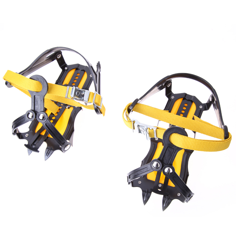 High Quality Altitude Slip-resistant Strong Ice Crampons Ski Snow Crampons Shoes Snow Walker for Climbing Walking Hiking(China (Mainland))
