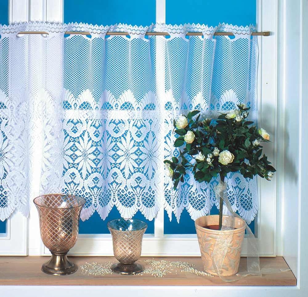 cafe curtain and valance : NEW160x60cm Drop polyester lace kitchen curtains  and lace cafe curtain .