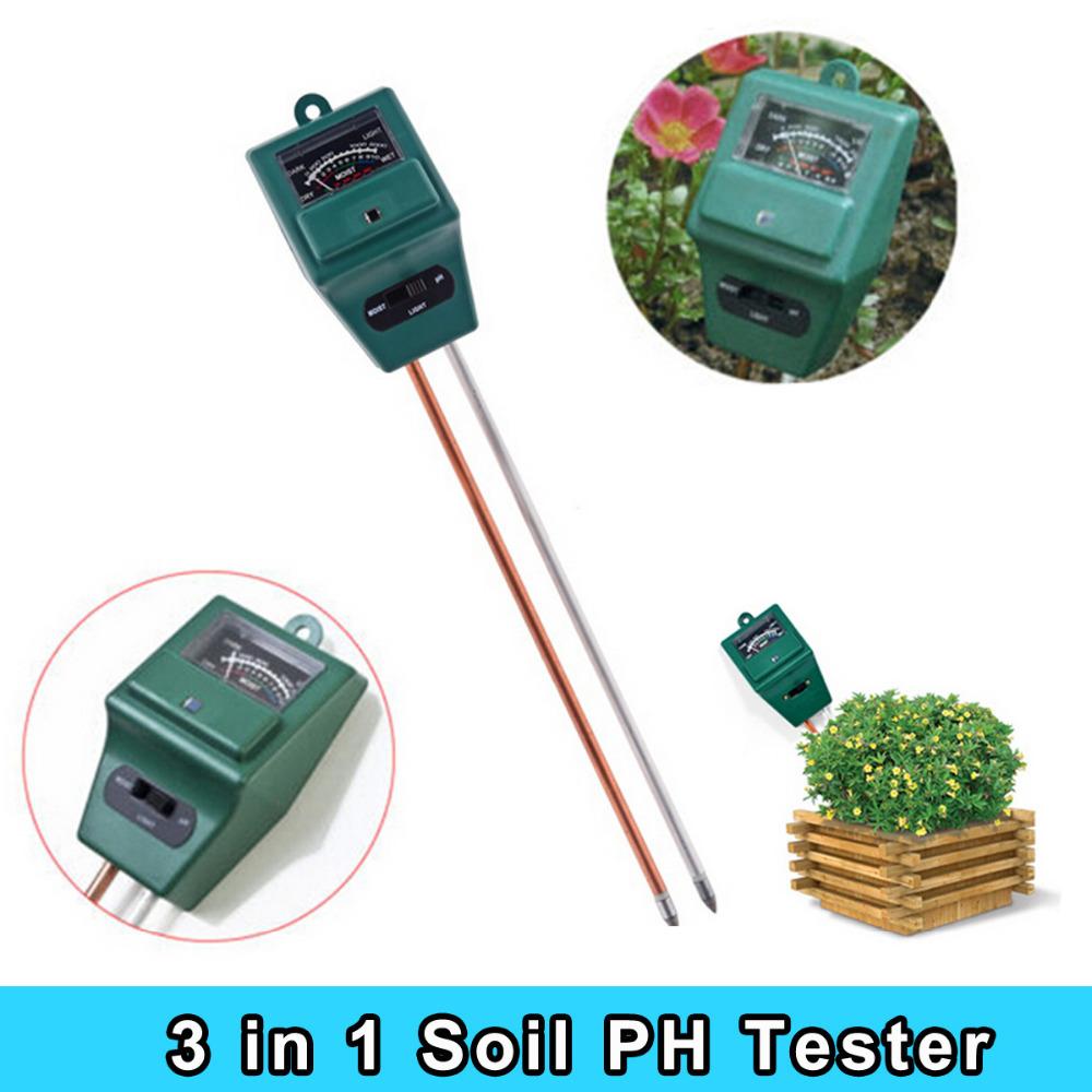 Garden tool 3 in 1 plant flowers soil test kits ph tester for Soil moisture meter