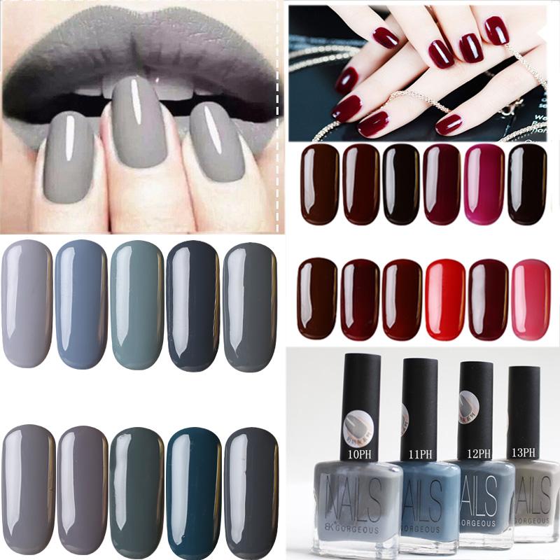 15MLQuickly Dry BK Brand 20Colors Gray Series Vernis Grey Paint Nail Polish Lacquer Vanish Nails Art(China (Mainland))