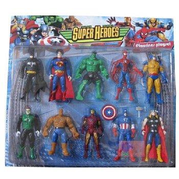 Free shipping 360PCS/lot Marvel The Avengers heroes Captain America+Batman+Thor+Spiderman+Iron man Figure retail packing