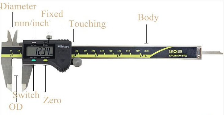 Digital Caliper 0-150mm/0.01mm Metric/Inch Calibre 500-196-20 LCD Electronic Caliper Paquimetro Gauge Measuring Tools