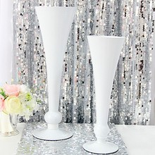 White metal vasese 1032w/1033w (1set of 2pcs)l vase home decoration accessories vase(China (Mainland))