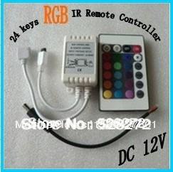 24 keys IR Remote Controller Dual Output use in SMD5050/3528 RGB LED Strip driver 12V LED