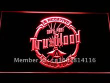g151-r True Blood Badge LED Neon Light Sign Wholesale Dropshipping On/ Off Switch 7 colors DHL(China (Mainland))