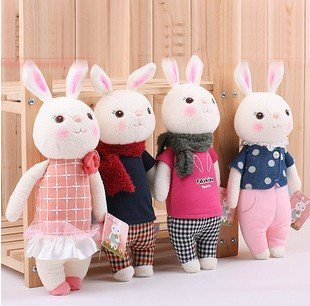 Newest original design Tiramisu rabbit plush toys cute rabbit plush doll 35cm gift to kis/girls 8 design choose wholesale retail