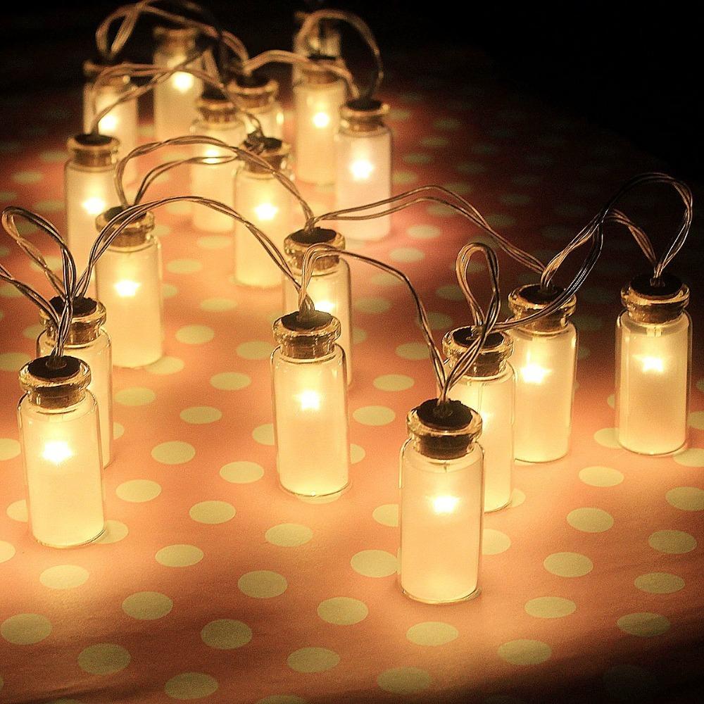20LED Vintage Glass Jar Garden Ambiance Fairy Lights,Warm White,Battery Power,Home Indoor Light,Wedding Decoration,Starry light(China (Mainland))
