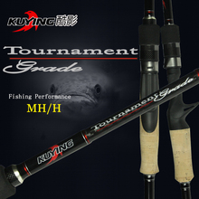 KUYING 2.1M Tournament Double Tips MH H Casting Spinning Carbon Lure Fishing Rod Pole Stick Medium Fast Action Free Shipping(China (Mainland))