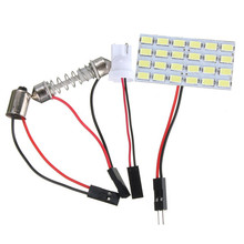 Buy Hot Sale T10 24 LED 5730 SMD Light Panel Board Pure White Car Auto Interior Reading Map BA9S Festoon Dome Lamp Bulb DC12V for $1.22 in AliExpress store