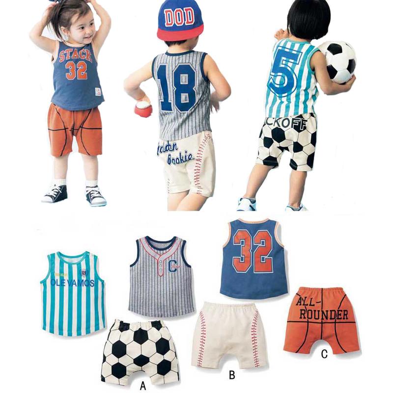 Retail Football Boy Clothing Set Summer Cartoon Sleeveless T-shirt + Shorts Kids 2pcs Sets High Quality Baby Clothes vetement(China (Mainland))