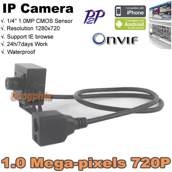 "720P Mini IP Camera 42x42mm Megapixel IP Camera 1/4"" CMOS Sensor Megapixel 1280x720 H.264 mobile device support wired IP Camera(China (Mainland))"