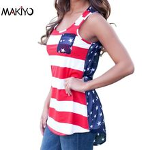 NEW Sexy Summer Style Sleeveless Tops American USA Flag Print Stripes Tank Top for Women Blouse Vest Shirt *40(China (Mainland))