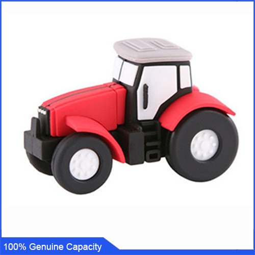 100% Genuine USB Flash Drive cartoon lovely truck car shaped memory stick pen drive 4GB 8GB 16GB 32GB 64GB pendrive hot sale(China (Mainland))