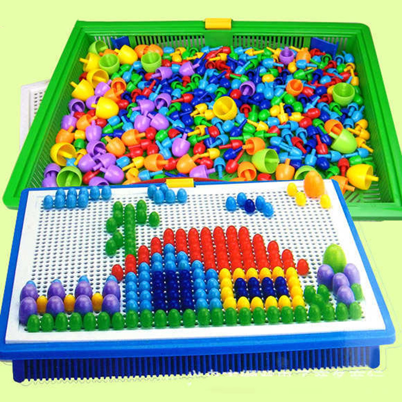 Creative Peg Board with 296 Pegs Model Building Kits Building Toy Intelligence for kids(China (Mainland))