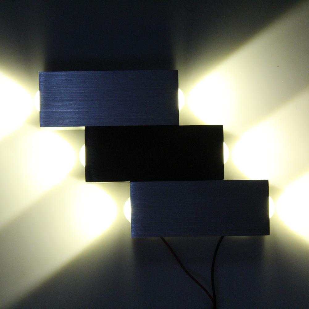Modern 6W High Power 6 LED Up Down Wall Lamp Spot Light Sconce Lighting