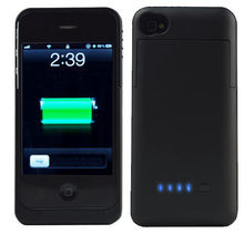 3200mAh Portable Battery Case Charger Power Bank for Apple iPhone 4 4S Black NEW(China (Mainland))