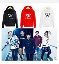 kpop WINNER in same fleece WINNER k pop hooded couple loose fleece jackets Hoodies Fleece k-pop bts exo Sweatshirts(China (Mainland))