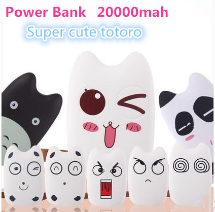 Totoro 20000mAh Power Bank Portable External standby Battery Charger Mobile power supply Dual USB Cable Charging treasure(China (Mainland))