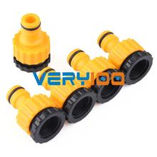 """Garden Lawn Car Water Hose Pipe Fitting Tap Adaptor Connector 1/2"""" 3/'4"""" 5pcs LOT Free Shipping(China (Mainland))"""