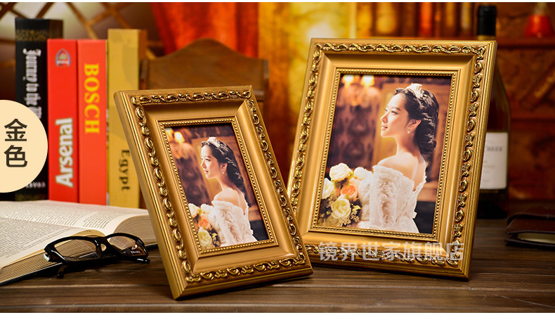 Classical Traditional Vintage Carved Pattern Wedding Wood Photo Frames vintage picture frames (CT006) 5/6/7/8/10/12'' - China TreasureHunt Home Decoration Co. Ltd. store