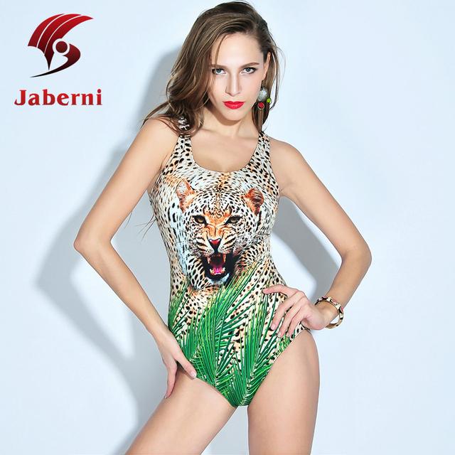 2016 леопард сексуальный купальный костюм один цифровой тигр дамы монокини печать животных купальник 3d-бич купальники