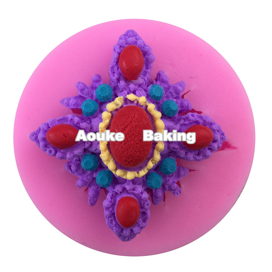 Precious Stone Jewel Shape Silicone Cake Candy Chocolate Fondant Biscuit Mould,DIY Cake Cookie Decorating Tool M029(China (Mainland))
