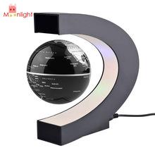 BEST World Globe Light Night Lights C Shape LED World Map Floating Globe Decoration Magnetic Levitation Light US Plug(China (Mainland))